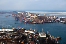 Panoramic View Of Vladivostok From Above. Vladivostok - The Capital Of Primorsky Krai, The Eastern Russian Far-West