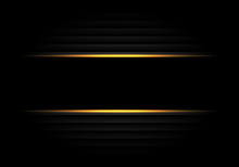 Abstract Black Banner Yellow L...