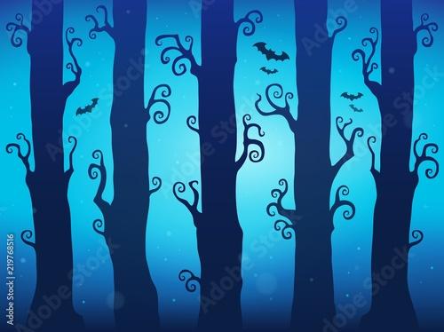 Foto op Canvas Voor kinderen Halloween forest theme image 7