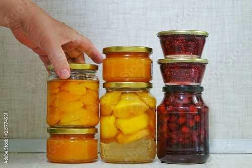 Canvas Prints Spices jam and confiture in jar