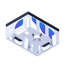 Isometric Exhibition Pavilion.