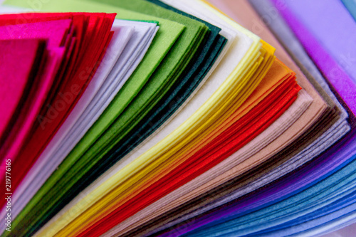 Fotobehang Stof Rolls of fabric and textiles in a shop or store