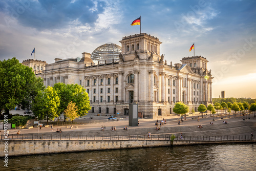 government district in berlin, germany Canvas Print