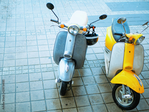 two small moto bike scooter for rent