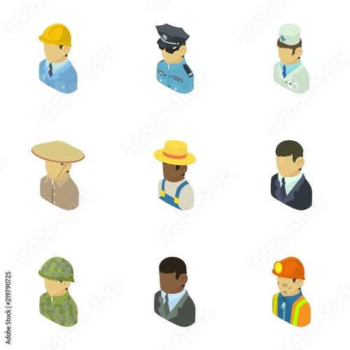 Fotografie, Obraz  Personage icons set