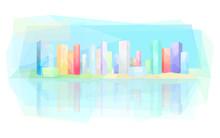 Colorful Modern City, Skyscrap...