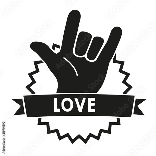 Photo Love Sign Language Black
