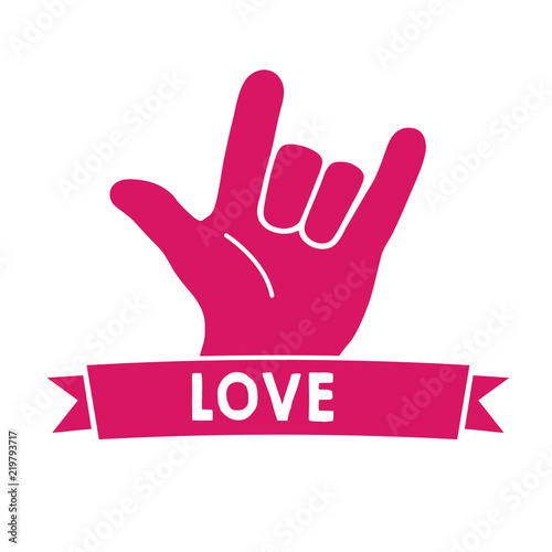 Love Sign Language Pink Canvas Print