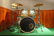 Drum Kit / Drum Set In Practice Music Room