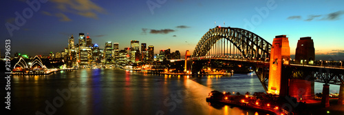 Sydney Harbour at night Wallpaper Mural