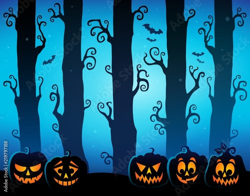 Halloween forest theme image 8