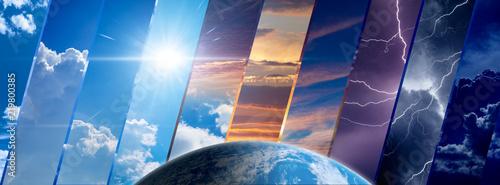 Fototapeta Weather forecast background, climate change concept obraz na płótnie