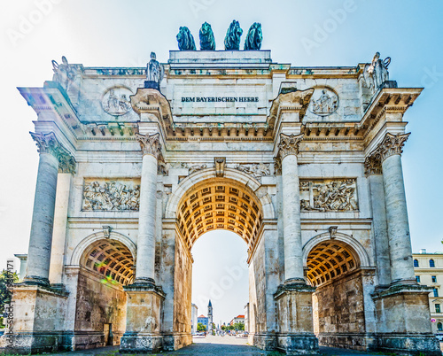 Canvas Prints Artistic monument siegestor in munich