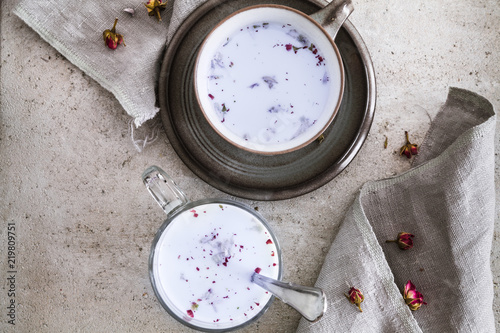 Moon milk with lavender syrup