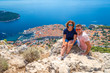 Tourist portrait in Dubrovnik city in summer, Croatia