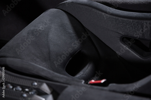Photo Alcantara bucket car seat
