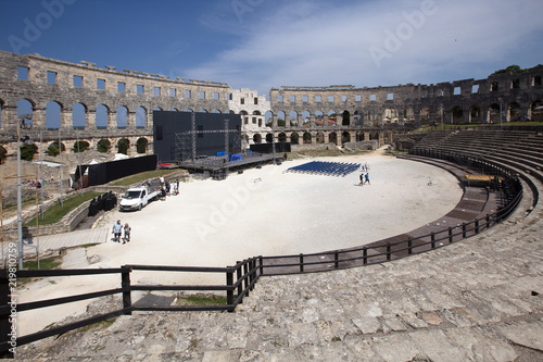 Spoed Foto op Canvas Theater Pula Amphitheater