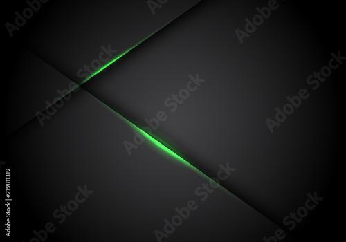 Fototapeta Abstract green light line cross shadow on black blank space design modern futuristic technology background vector illustration. obraz
