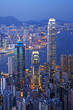canvas print picture - Hong Kong at Twilight Vertical