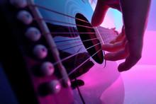 Closeup Of An Acoustic Guitar ...