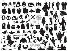 Halloween Silhouettes. Spooky ...