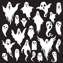 Halloween Ghosts. Ghostly Mons...
