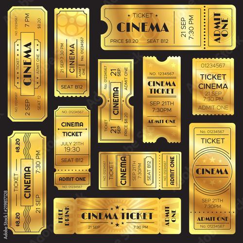 Fotografía Realistic golden show ticket