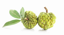 Fresh Custard Apple Isolated On A White