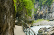 Narrow path through Aare gorge