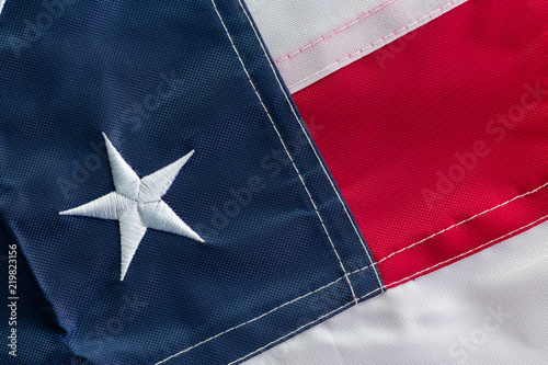Fotografia, Obraz  American flag folded to show a single star