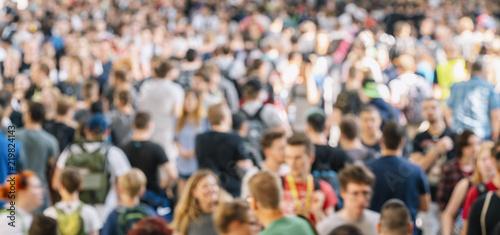 Fototapeta blurred people at a trade show obraz na płótnie