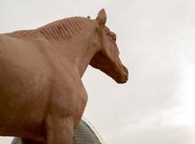 Sand Sculpture Of A Horse