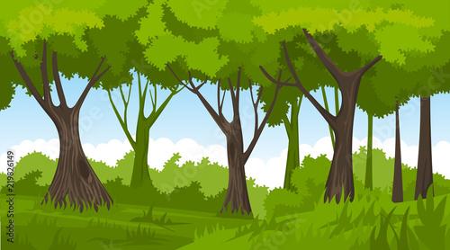 Poster Pistache Summer forest. vector backround