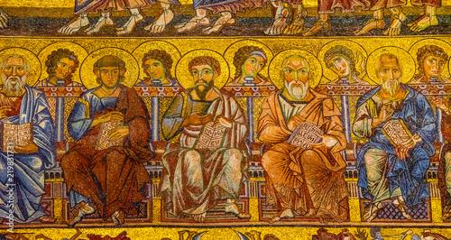 Cuadros en Lienzo Saints Mosaic Dome Bapistry Saint John Florence Italy