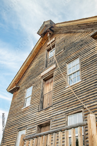 Fotografie, Obraz  wooden three story pioneer grist mill