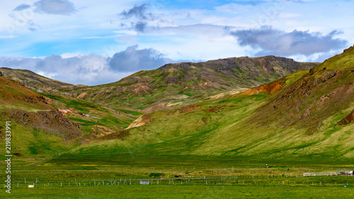 Poster Pool landscapes of Iceland