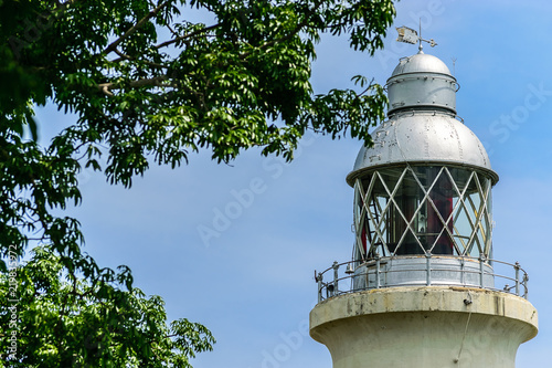 Fotografia, Obraz  Close up view of the Negril Lighthouse, one of the earliest concrete lighthouses, built in 1894, on the west coast of Jamaica