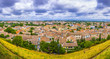 Aerial view of Modern Carcassonne, France