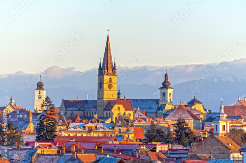 Obraz na plátně  Sibiu, Transylvania, Romania