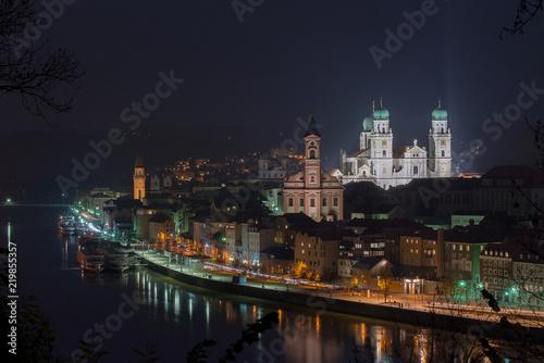 Plakat Passau w nocy