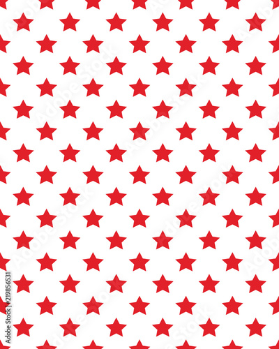 Photo  Seamless stars with diagonal lines red pattern