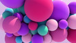 canvas print picture - Colorful Floating Balls background