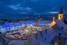 Christmas Market In Sibiu, Rom...