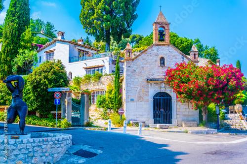 Fotografía  View of a chapel at Saint Paul de Vence village in France