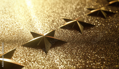 Fotografía Golden stars in high relief. Concept of good qualification.