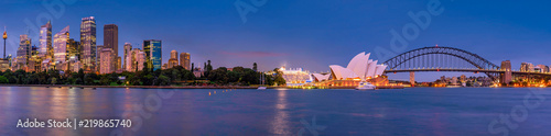 Canvas Print Panorama of Sydney and the Opera House, Australia
