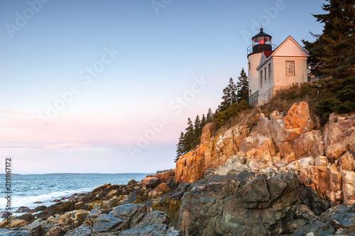 Photo Stands United States Bass Harbor Lighthouse, Acadia National Park, Mount Desert Island, Maine, USA
