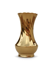 Golden Vase Isolated With Clipping Path
