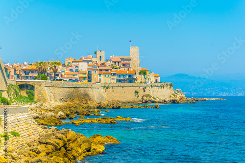 Seaside view of Antibes, France Wallpaper Mural