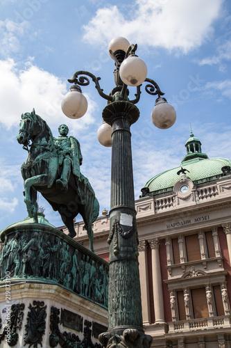 Foto op Aluminium Historisch mon. Belgrade, Serbia - Prince Mihailo Monument at Republic Square